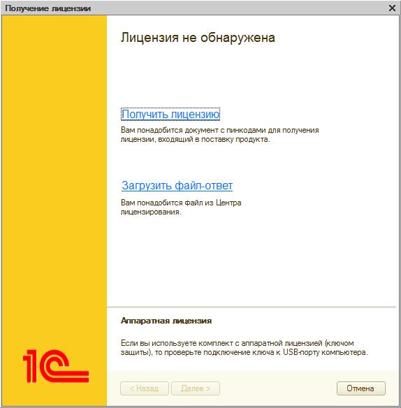 Программный ключ 1с